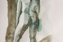 Life drawings / Working with pen and inks.