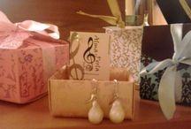 Alma y perla / Cuero semipreciosas y perlas