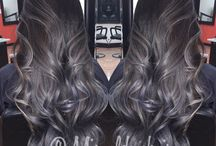 black and gray ombre