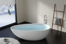 Freistehende Badewannen von Badeloft / Die freistehenden Design Badewannen aus Mineralguss von Badeloft sind ein Highlight in jedem Badezimmer.