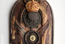 Art Shrines, Assemblage, Reliquary / Shrines, Altar, Assemblage, reliquary , cabinet curiosity, box assemblage. / by Patty Brown