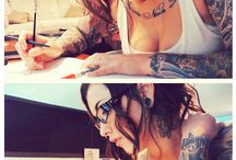 Inked Lovelies / Beautiful women who happen to have ink >.<