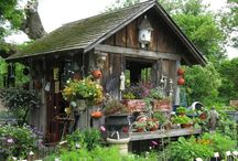 Garden Potting Sheds / by Kathy Ahrens
