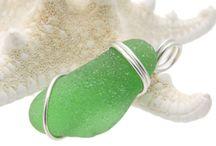 Green Sea Glass Jewelry / Sea glass jewelry using genuine beach found glass in shades of green