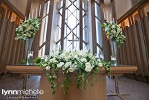 white themed wedding / modern and classic white wedding