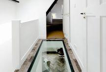 Glass in floor