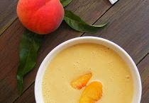 Kókusztejes őszibarack  leves