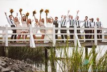 Outdoor Ceremony at the Creek Club at I'on / A perfect fall day, a rich autumn palette, a stunning bride and handsome groom: what more could you ask for? Get a glimpse of an entire wedding on this board from a wedding at the magnificent Creek Club at I'on in Mt Pleasant SC.