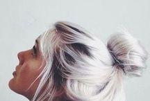 pastel grey hair
