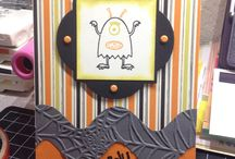 MY HALLOWEEN CARDS / My Stampin Up inspired Halloween cards. / by Barbara Charles