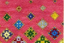 'Floating Flowers' Cross Stitch Kit by Meadow Cross Stitch