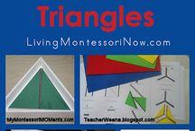 modré trojuholniky