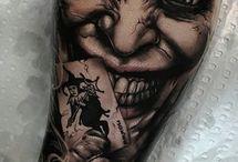 Super heroes tattoo