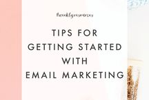 EMAIL MARKETING TIPS / How to use email + newsletters to market your brand, product, blog + business. Email marketing tips + tricks.