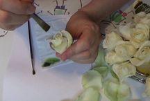 Тонировка цветов из лент