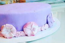 purple citrus birthday cake