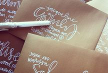 Envelope Inspiration / Artistic ways to address your hand written notes or party invitations
