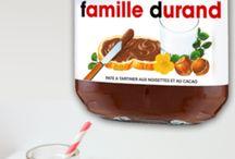 """Tableaux Nutella - L'Atelier Décoratif / Vous souhaiter faire un cadeau original et personnalisé… le tableau """"prénom"""" pate à tartiner… Faites comme tout le monde, à chacun son petit pot de… bonheur ! Invitez-vous au petit déjeuner de millions de personnes. En tableau, en poster, en toile, en papier, en adhésif, en 1mx1m en 60cm, nous réaliserons pour vous le pot de nutella® que vous voulez"""
