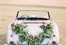voiture//fleurs//mariage