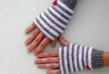 crochet mitones