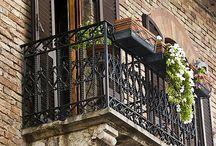 Juliette Iron Balcony / by Ann Kenkel Interiors
