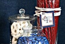 Red, white and blue party