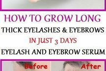 Grow eye lashes and eye brow's