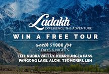 Win A Free Ladakh Trip / We Are Celebrating Giving 1,00,000 Travellers An Unforgettable Adventure And Are Giving Away A Free Ladakh Tour Worth $1000! Register Now: http://goo.gl/LqSwf5 / by Thrillophilia Adventure
