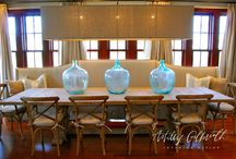 BOOTHS, BENCHES, & BANQUETTES / Fit more friends around the table!  Benches, booths, and banquettes do the trick!