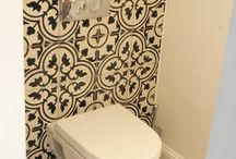 Small toilets by Marrakesh Cement Tiles / How to use cement tiles in smaller areas