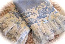Toalhas de banho / Com rendas e tecidos
