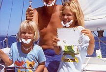 Pam Wall / Pam, her husband, Andy, and their two children, who sailed around the world on their 39 foot sloop sailboat.