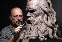 Art Clay Sculptures / Sculptures made of clay mediums / by Martha Smith Ⓥ