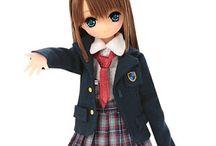 Bambole stilo manga giapponese
