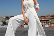 Trousers wedding dress