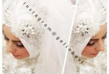 Tesettür Gelinbaşı Modelleri, Bridal Hijab / Tesettürlü gelinbaşı modelleri, gelin başı aksesuarları, best bride head ornaments, bridal hijab designs, wedding hijab.