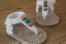 Chrochet white baby sandels