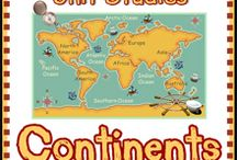 Continents and the oceans