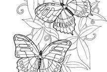 Patterns silk painting