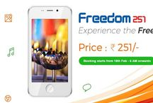 Freedom of Smartphone to every Indian with Freedom 251 / This board is especially dedicated to all the Indians because today the India has launched the world's cheapest smartphone only for 4 US dollars and this a very proud feeling for all of us. A good step towards Make in India.