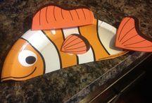 Clown fish craft and art