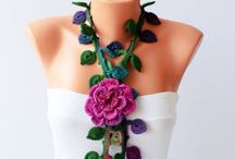 Crafty - Crochet (jewellery) / Headbands, hair clips, necklaces, earrings, bracelets and rings. / by Elizabeth Crowe