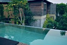 Water / pool, swimming, beach, deck, dipping, cooling, calming