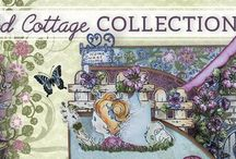 Wildwood Cottage Collection / Come away with us and discover the whimsical world of Wildwood Cottage. Create your very own fairy garden with this collection featuring four cling stamp sets and coordinating dies to fill your fanciful garden scenes with playful fairies, dimensional garden accents, cheery florals and of course enchanting cottages for the spirited sprites to call home.