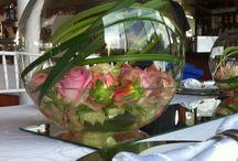 Larine & George Wedding / #LiquidLounge. Love the centre pieces!!