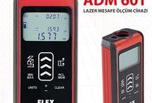 Lazer Metre ADM 60-T / FLEX lazerli mesafe ölçer cihazı ADM 60T modeli profesyonel hassas mesafe ölçme cihazıdır. Dokunmatik ekranlı lazermetre.