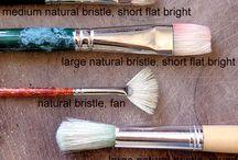 Resim için malzemeler