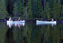 Canoeing...