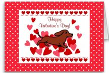 Dachshund Valentine Art and Gifts! / Cute and funny Doxie Valentine designs by Happy Dachshund Art and Gifts http://happylabradors.com/dachshund-gifts/
