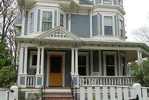 White Hampton homes